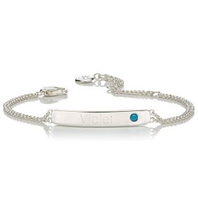 Personalised Birthstone Bracelet - December