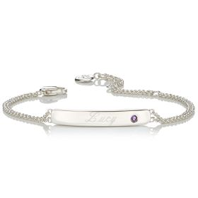 Personalised Birthstone Bracelet - February
