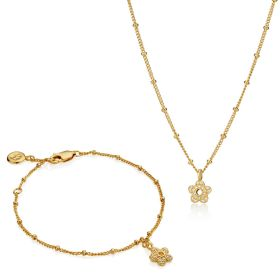 18ct Gold Vermeil Hadley Flower Gift Set