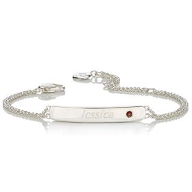 Personalised Birthstone Bracelet - January