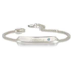 Personalised Birthstone Bracelet - March