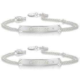 BFF Diamond Identity Bracelet Gift Set
