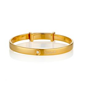 Personalised Gold Vermeil Forever Diamond Bangle