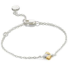 Sterling Silver and Gold Vermeil Honey Bracelet
