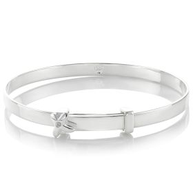 Love First Diamond Kiss Christening Bangle