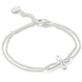 Cherish Diamond Cross Bracelet