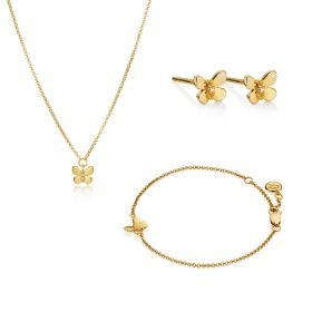 18ct Gold Vermeil Monarch Butterfly Gift Set