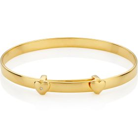 Personalised Gold Vermeil My First Diamond Christening Bangle