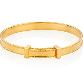 18ct gold vermeil baby bangle