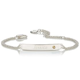 Personalised Birthstone Bracelet - November