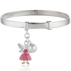 Personalised Whisper the Pink Fairy Wish Christening Bangle