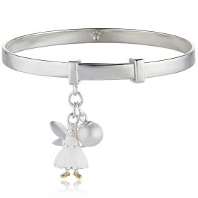 Personalised Snowdrop Fairy Wish Christening Bangle