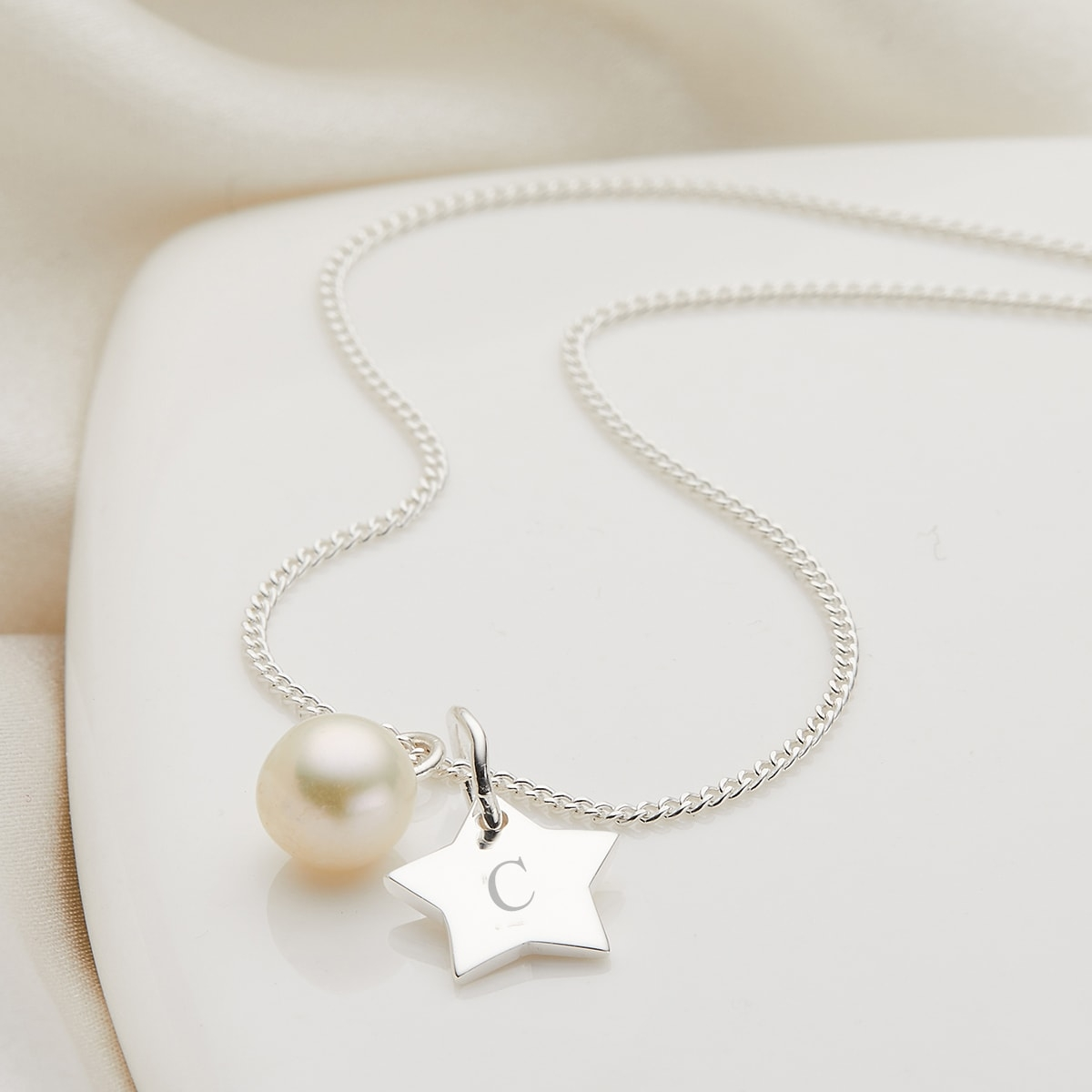 Personalised My First Pearl Star Necklace