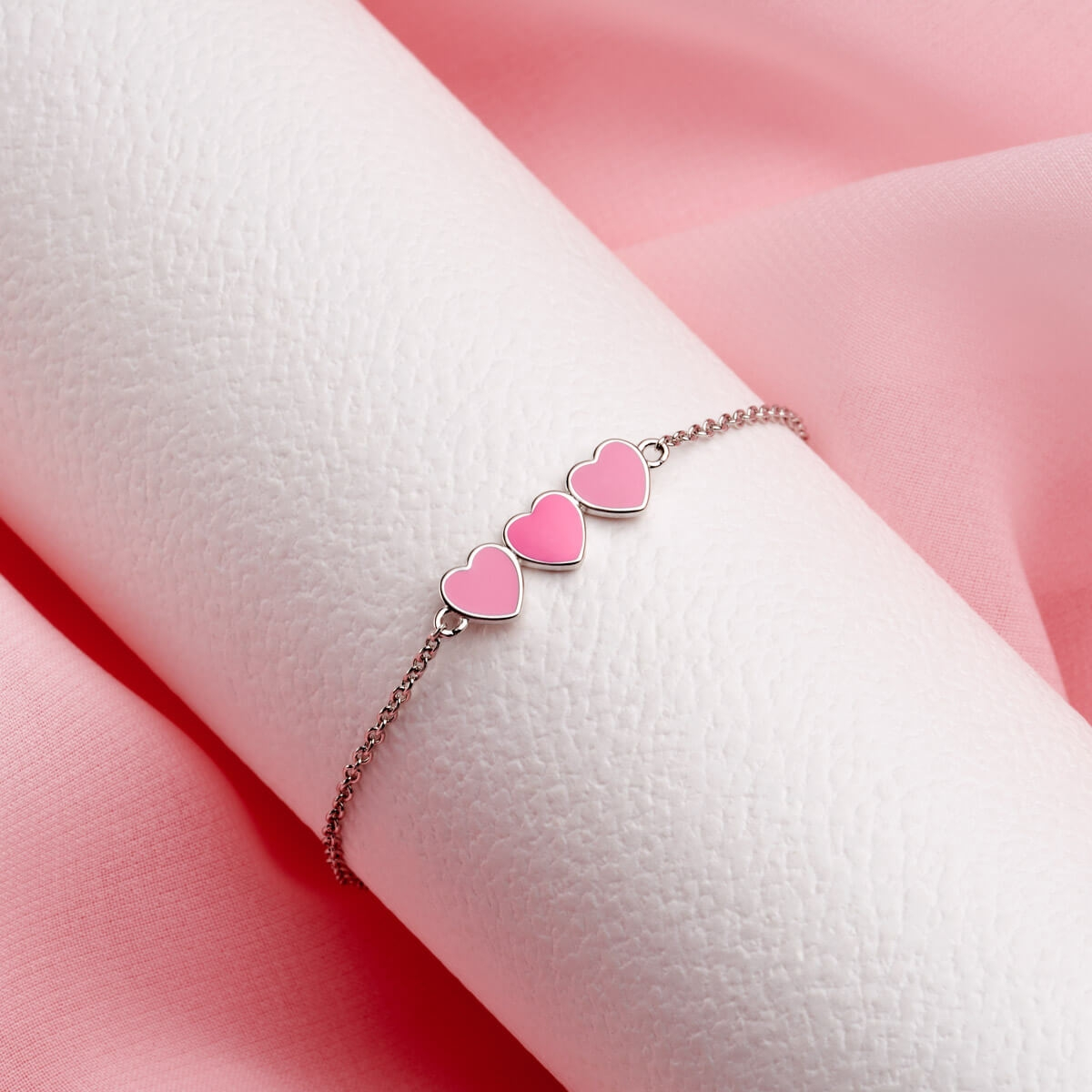 Dream Pink Heart Bracelet