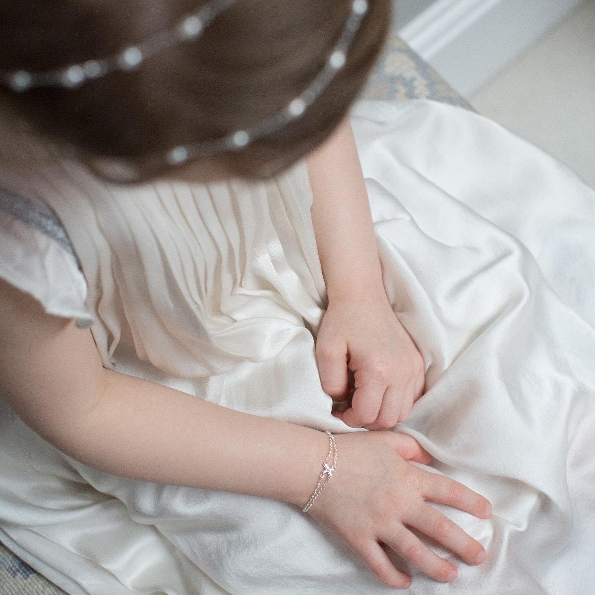 Childrens My First Diamond Kiss Bracelet