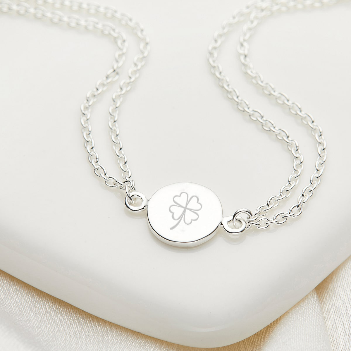 Personalised Her World Bracelet - SYMBOL ENGRAVING