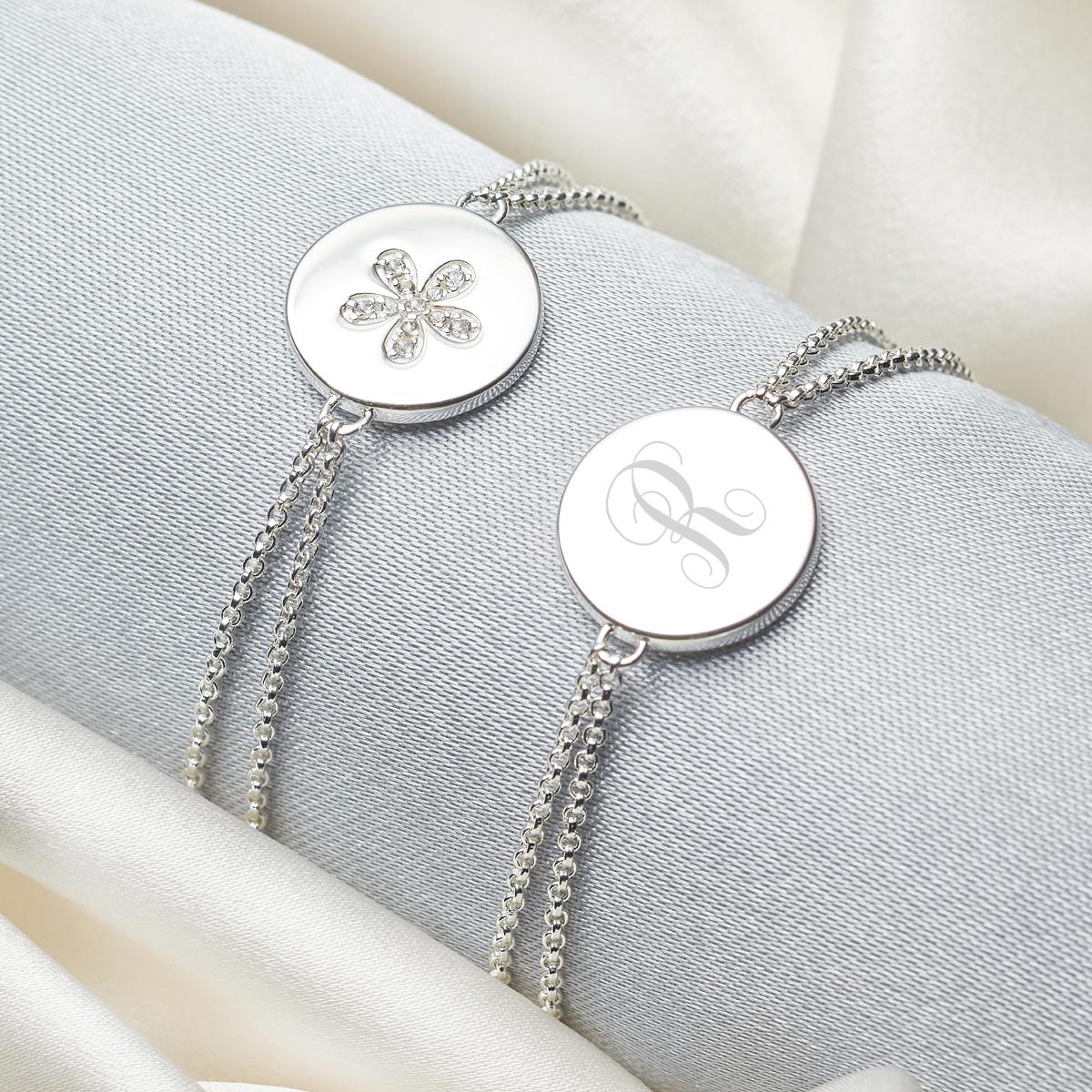 Personalised Angel of Mine Heart Bracelet
