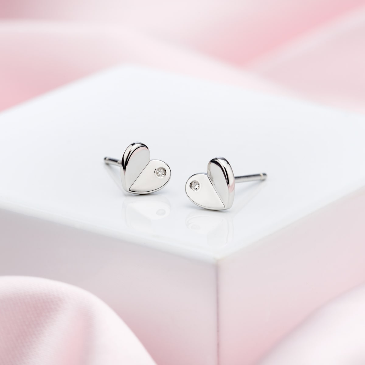 Adored Diamond Heart Earrings