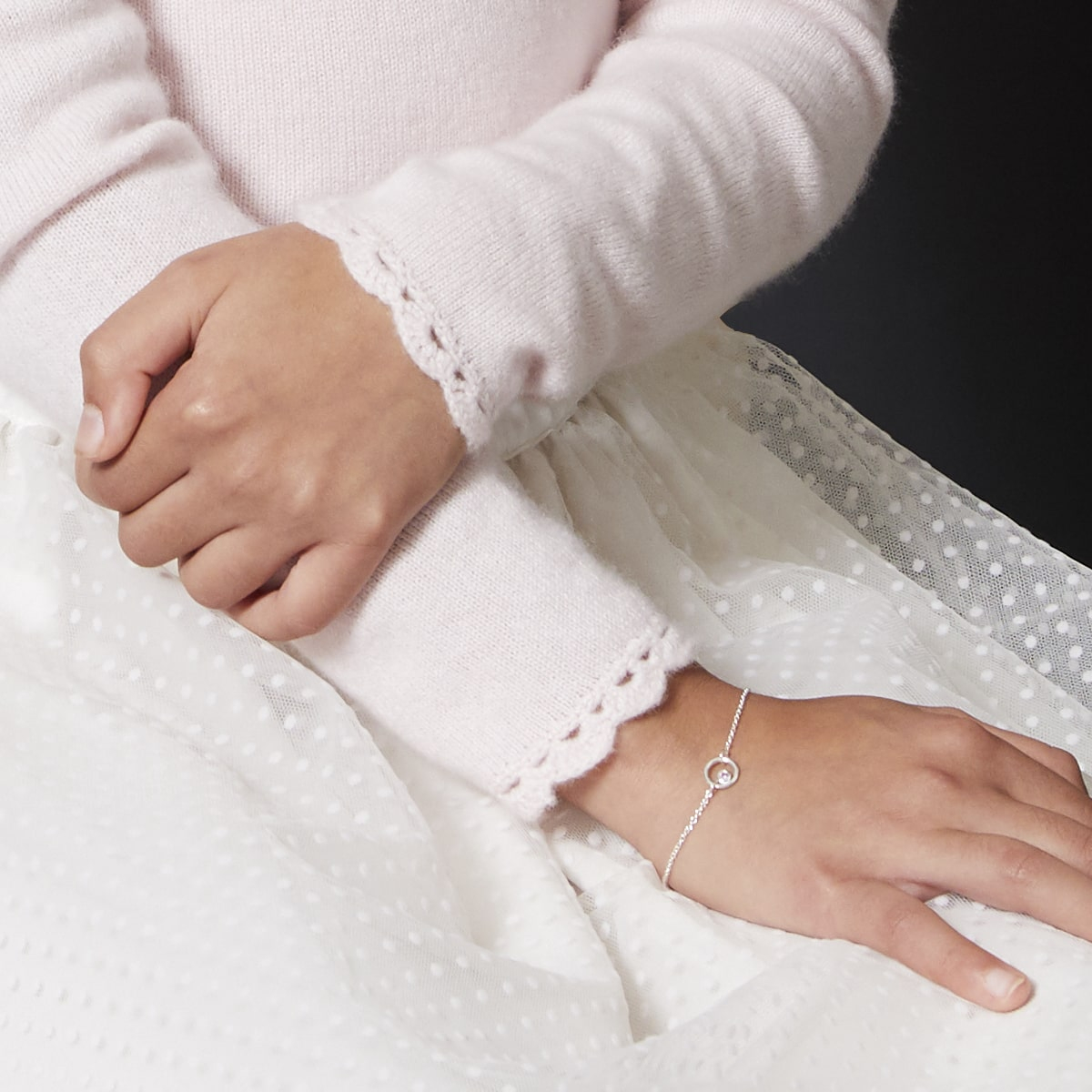Halo White Topaz Bracelet