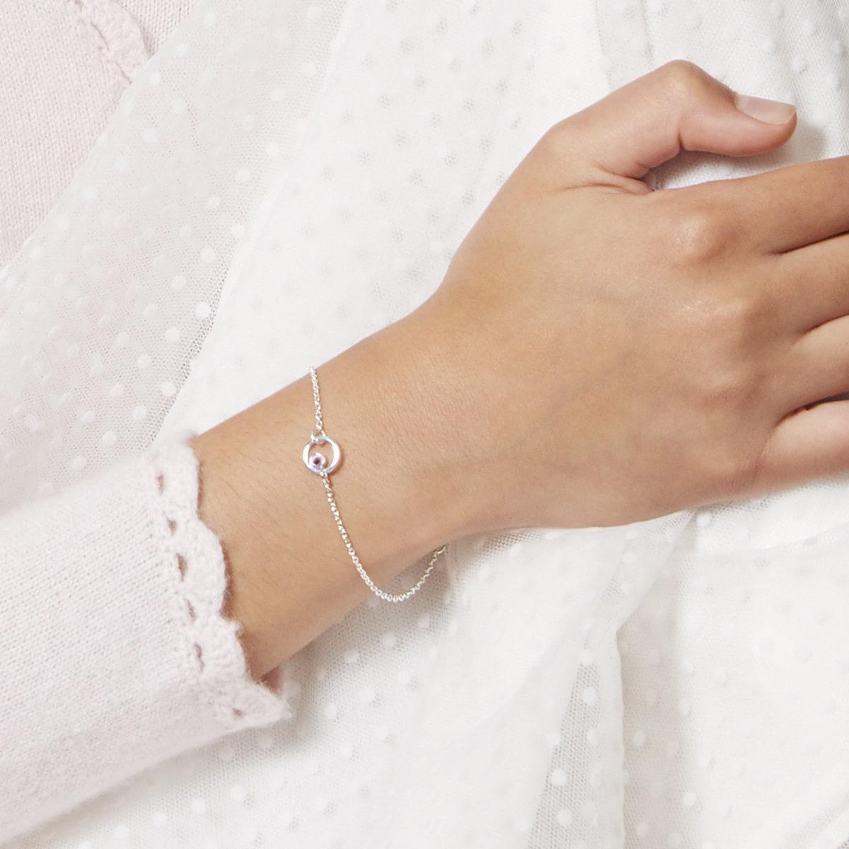Halo Pink Sapphire Bracelet