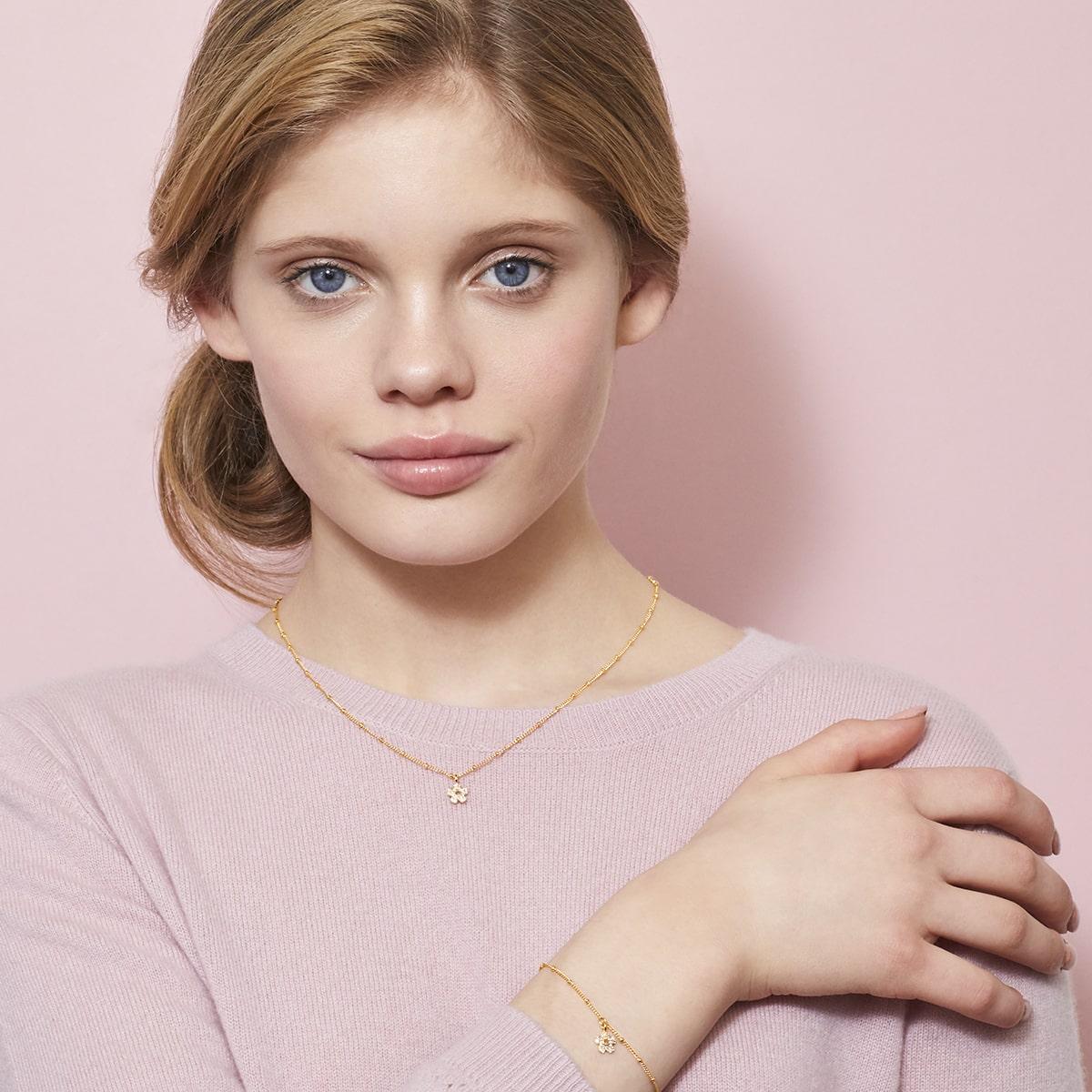 Gold Hadley Flower Bracelet