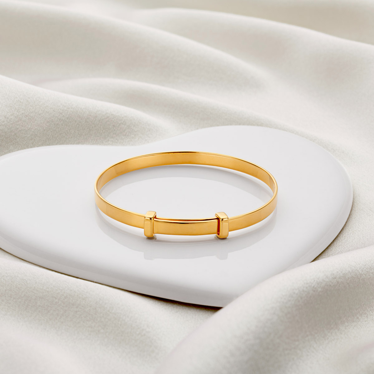Personalised Gold Vermeil Signature Christening Bangle