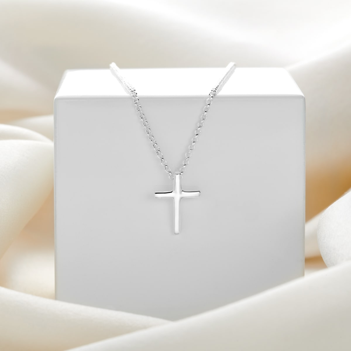 Faith Rounded Cross Necklace