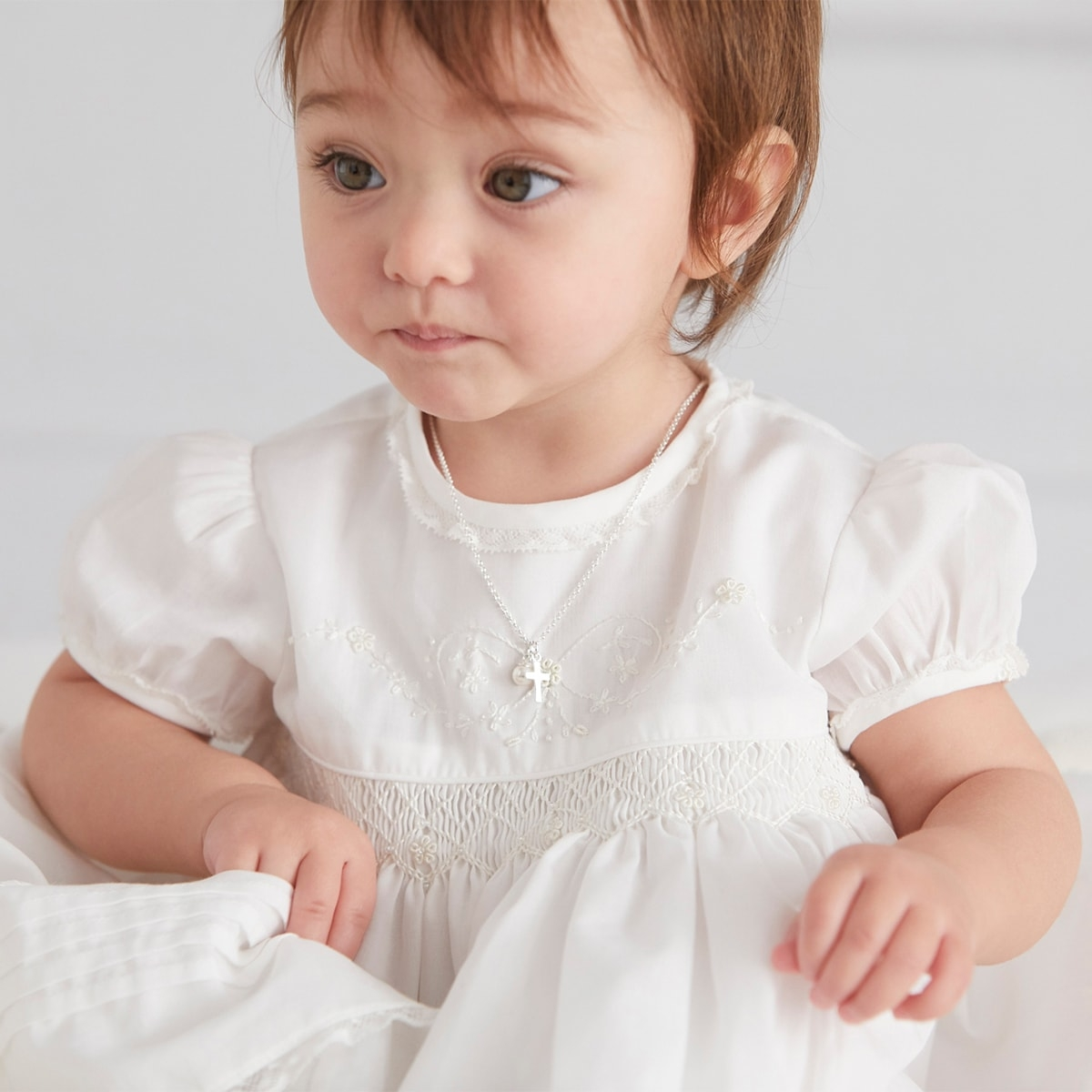 Baby's Christening Cross Necklace