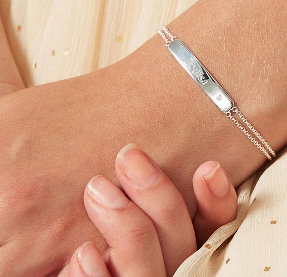 Girl's First Diamond ID Bracelet