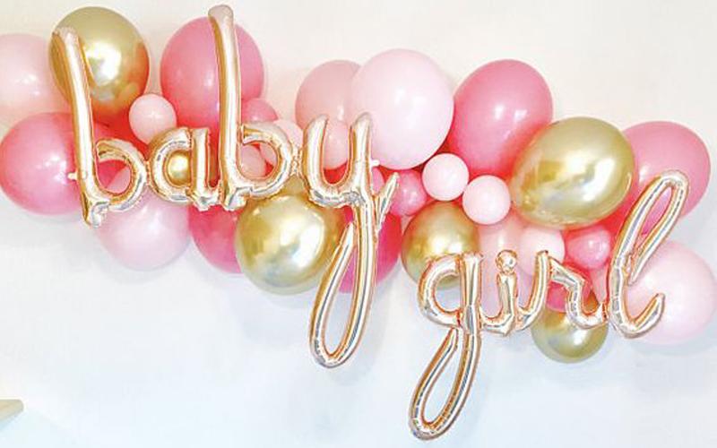 Baby Shower Girls Balloons