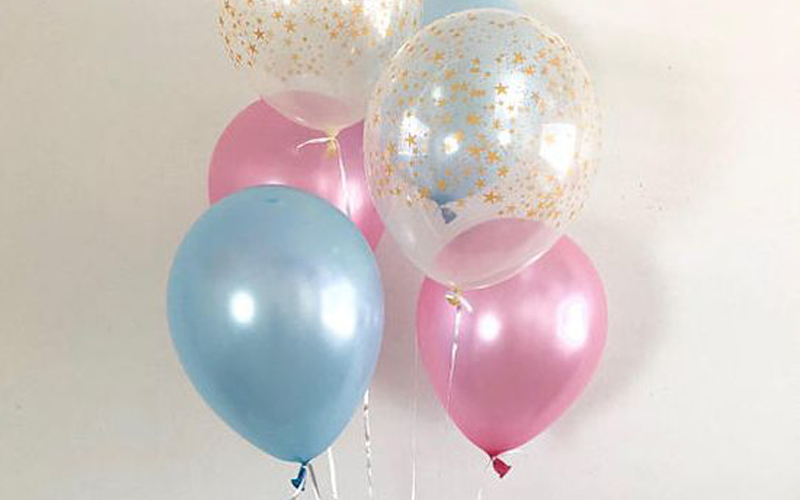 Baby Shower Pink and Blue Balloons